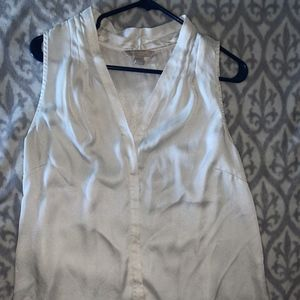 White/Pearl Short Sleeved Blouse